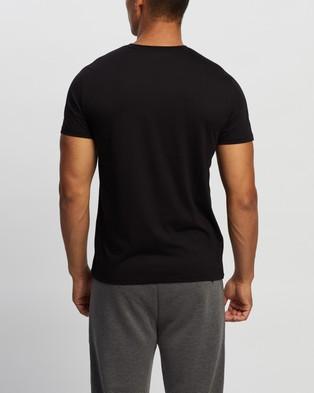 Calvin Klein - Jersey Rib Trim Tee - T-Shirts & Singlets (Black) Jersey Rib Trim Tee