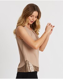 Dorothy Perkins - Sequin Shoulder Sleeveless Top