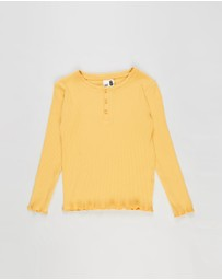 Cotton On Kids - Lucy Long Sleeve Henley - Kids-Teens