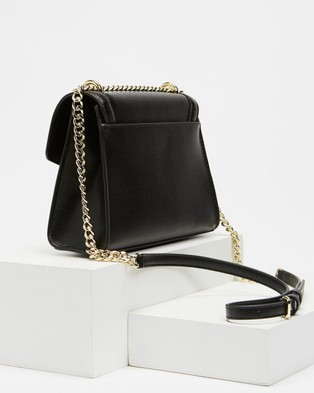 DKNY Polly Flap Cross Body Bag - Bags (Black & Gold)