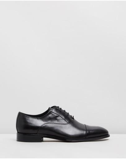 Double Oak Mills Marloe Leather Oxfords Black