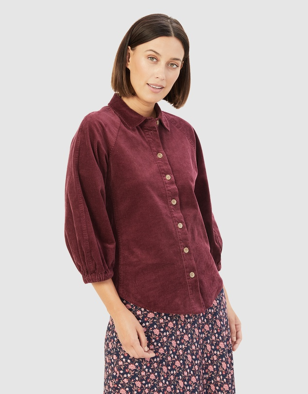 French Connection - Corduroy Puff Sleeve Shirt
