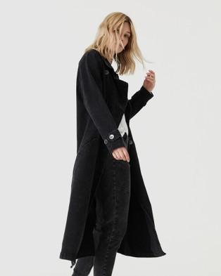 Jac & Mooki - Denim Trench - Denim jacket (vintage black) Denim Trench