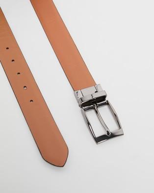 Double Oak Mills Reversible Leather Belt - Belts (Black & Tan)