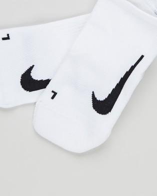 Nike Multiplier No Show Socks   2 Pack - Socks & Tights (White & Black)