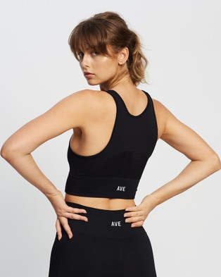 AVE Activewoman High Compression Seamless Crop Top - Crop Tops (Black)