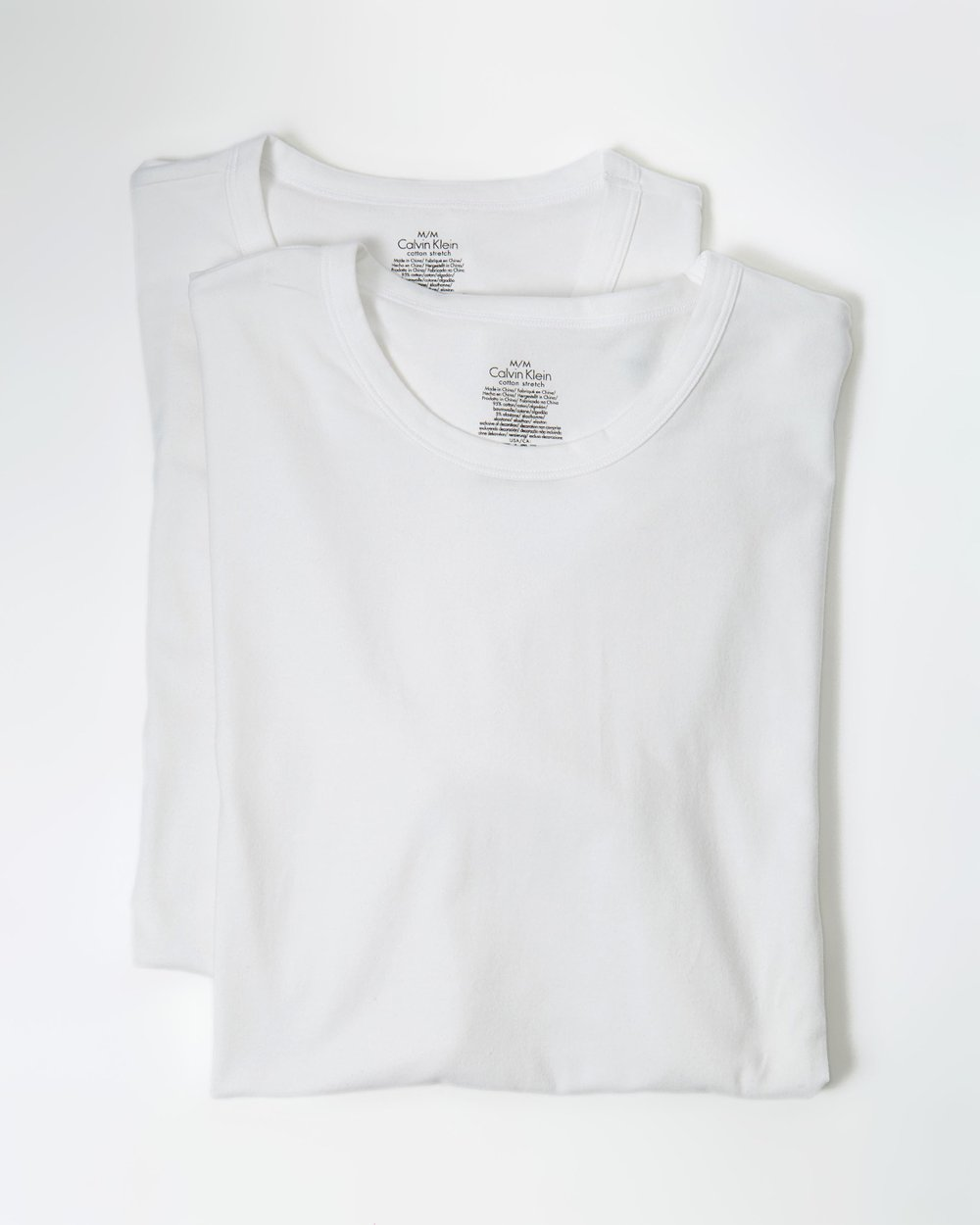 3ef6a0b62fb38b Cotton Stretch Crew Neck 2-Pack Undershirt by Calvin Klein Online | THE  ICONIC | Australia