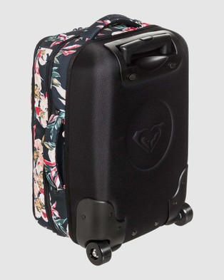 Roxy Get it Girl 35L Small Wheeled Suitcase - Travel and Luggage (ANTHRACITE WONDER GA)