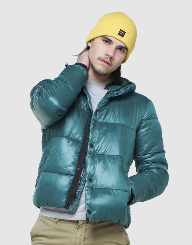 Men High Shine Padded Jacket