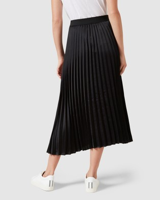 French Connection Black Pleated Skirt - Skirts (BLACK)