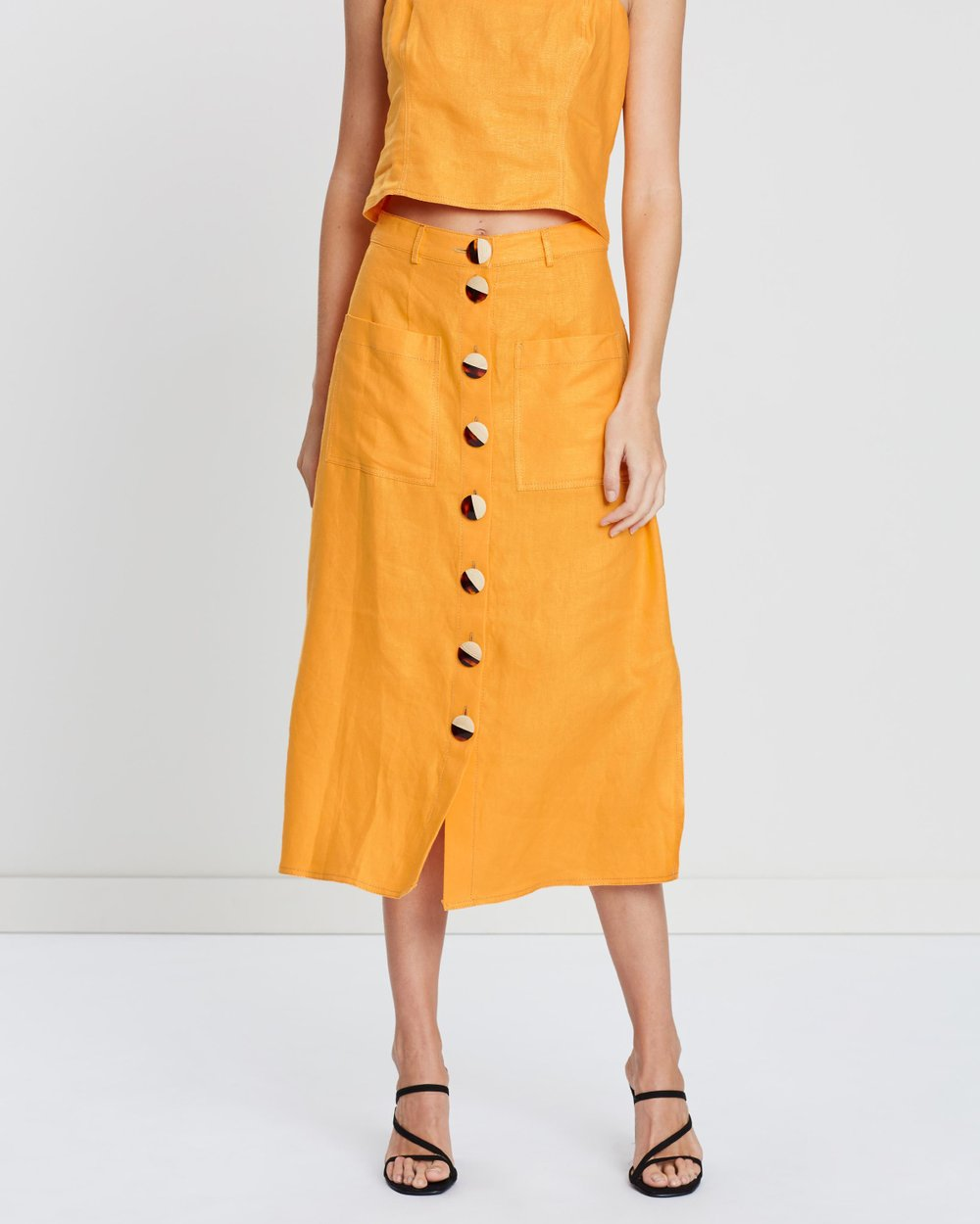 152db72693d Button Front Skirt by Nicholas Online