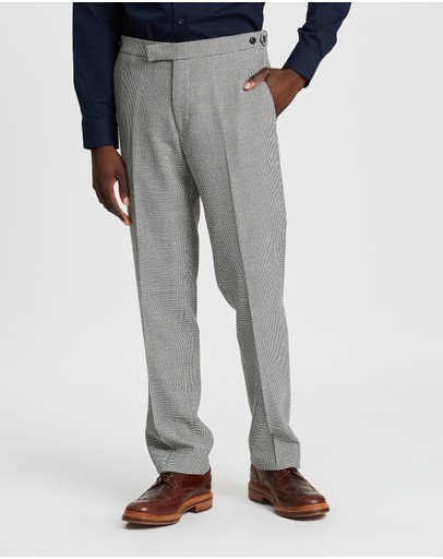 REISS - Modern Dogtooth Mixer Trousers