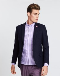Scotch & Soda - Peak Lapel Blazer In Wool Blend Quality With Neps