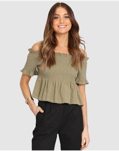 795421aeb1e Off Shoulder Tops | Off The Shoulder Tops Online | Buy Womens Off Shoulder  Top Australia |- THE ICONIC
