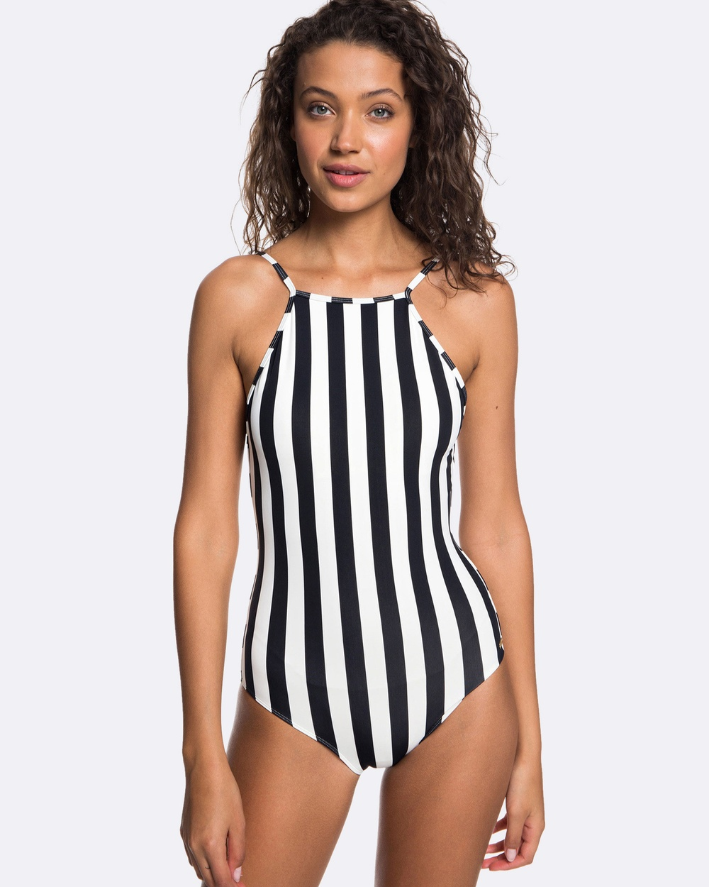 Roxy Womens Beach Basic One Piece Swimsuit One-Piece / Swimsuit TRUE BLACK BIG SIMPL Womens Beach Basic One Piece Swimsuit