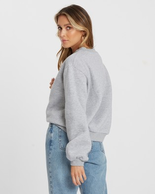 Calli Billie Oversized Sweatshirt - Sweats (Grey)