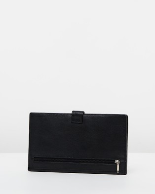 Loop Leather Co Leather Travel Clutch - Travel and Luggage (Black)