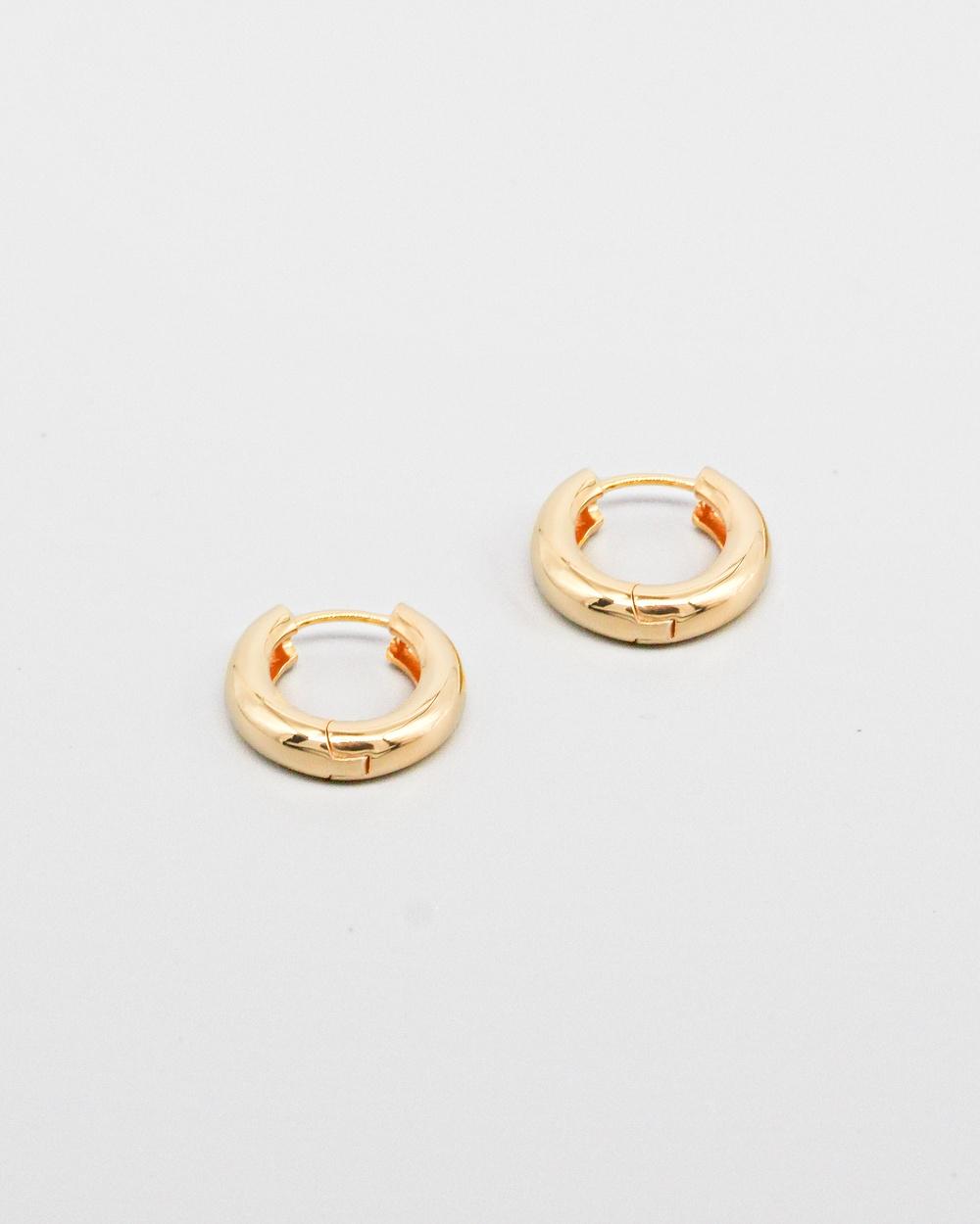 Brie Leon 925 Everyday Mini Hoop Earrings Jewellery Gold
