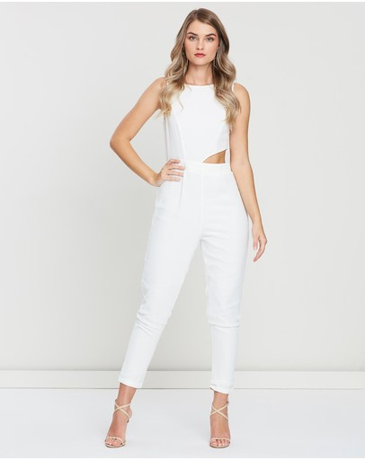 Skiva Side Cut-out Jumpsuit White