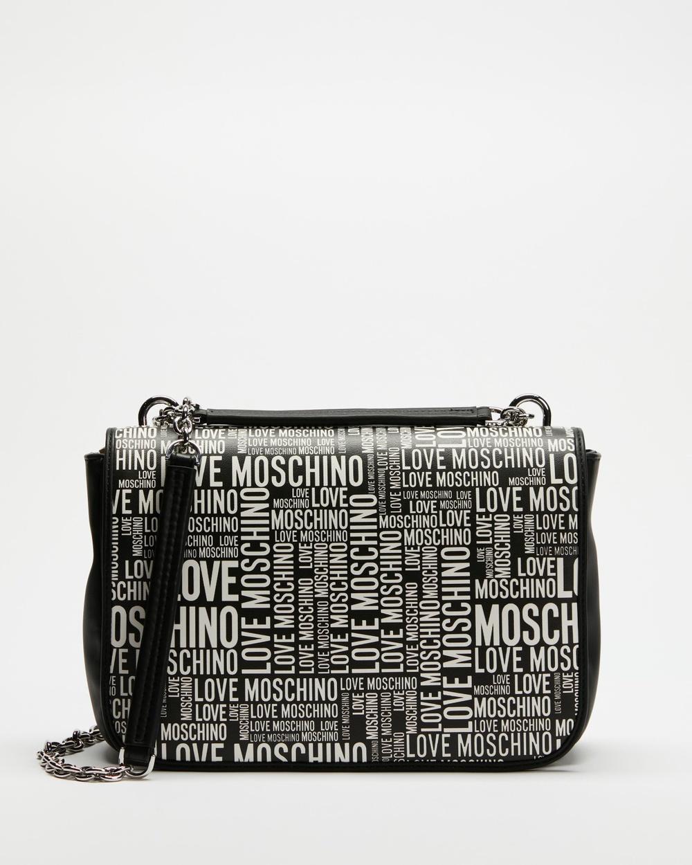 LOVE MOSCHINO Graffiti Shoulder Bag Handbags Fantasy Colour