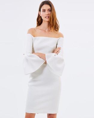 Friend of Audrey – Alexa Midi Dress – Bridesmaid Dresses White
