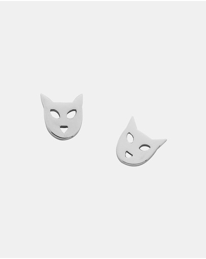 Karen Walker Cat Studs Sterling Silver