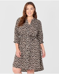 Love Your Wardrobe - 2-Way Animal Print Shirt Dress