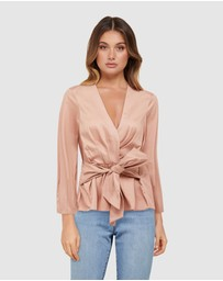 Forever New - Roxy Tie Front Poplin Blouse