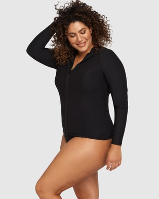 Artesands - Hues Sunsafe Long Sleeve Top Black Swimwear (Black)