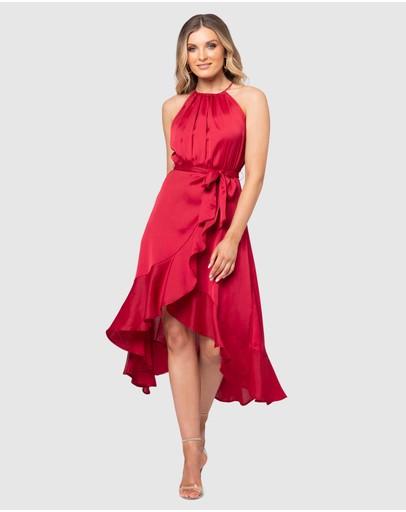 Pilgrim Bowie Midi Dress Berry