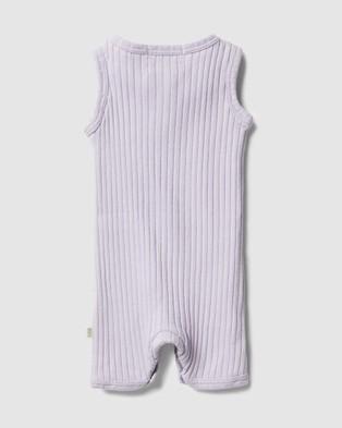 Wilson & Frenchy Organic Rib Growsuit   Babies - All onesies (Lavender)