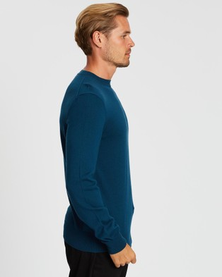 Kent and Curwen - blue knit - Jumpers & Cardigans (Blue) blue knit