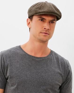 Brixton Brood Snap Cap - Hats (Brown & Khaki)