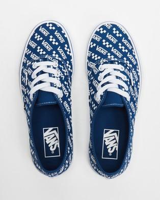 Vans Authentic   Unisex - Sneakers (Logo Repeat True Blue & True White)