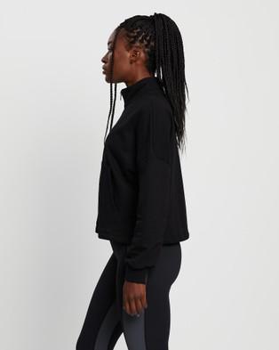 All Fenix - Quarter Zip Up Sweater - Crew Necks (Black) Quarter Zip Up Sweater