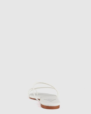 St Sana Melon Slides - Sandals (White)