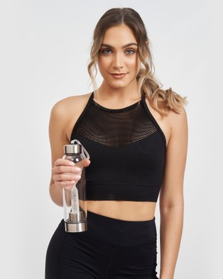 Miz Casa and Co Crystal Drink Bottle - Wellness (Clear Quartz)