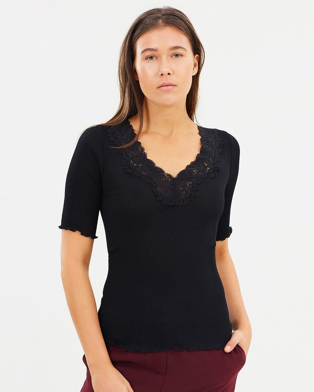 Grace Willow Judy Seamless Lace Top Tops Black Judy Seamless Lace Top