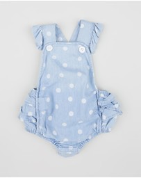 Milky - Chambray Spot Playsuit - Babies