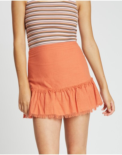 All About Eve Beachy Mini Skirt Copper