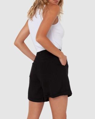 Madison The Label Charlotte Shorts - High-Waisted (Black)