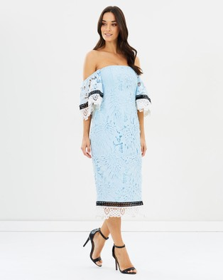 Romance by Honey and Beau – Anika Sleeve Dress Sky Blue