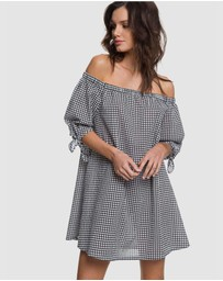 Roxy - Womens Off-The-Shoulder Overswim Dress