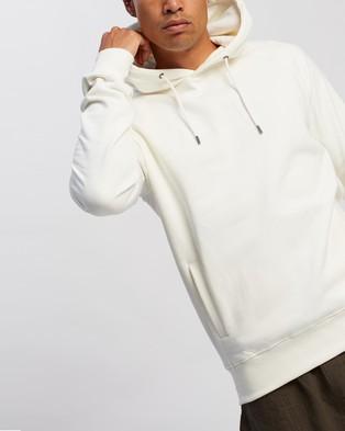 AERE Organic Cotton Hooded Sweat - Hoodies (White)