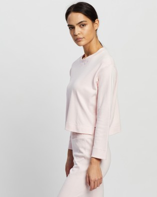 AVE Activewoman - Ribbed Side Sweat Crew Necks (Pink)