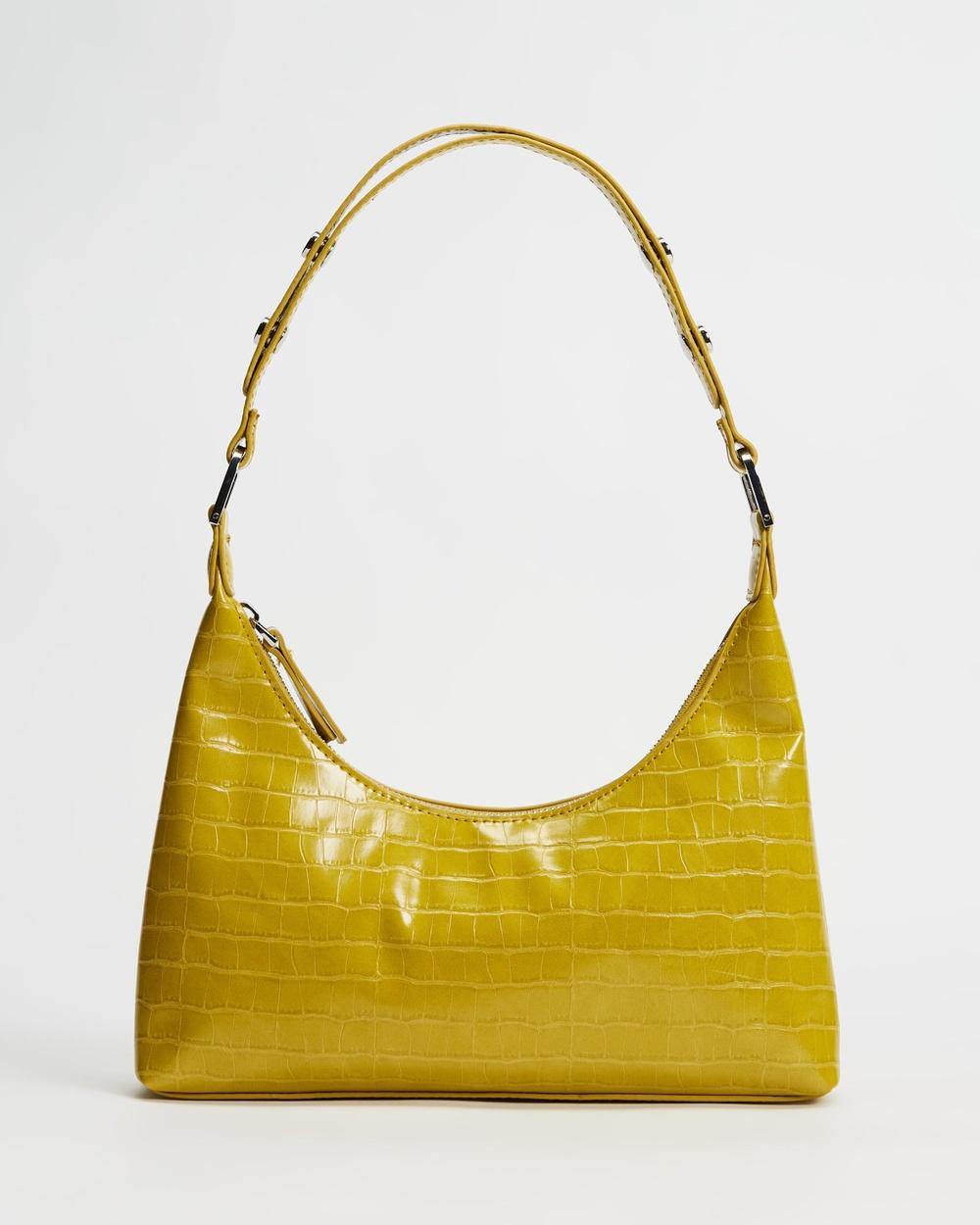 M.N.G Karina Shoulder Bag Handbags Bright Yellow