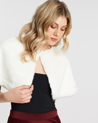 Unreal Fur Love Me Tender Capelet - Coats & Jackets (Ivory)