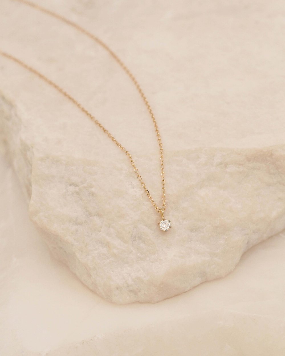 By Charlotte Sweet Droplet 14k Gold & Diamond Necklace Jewellery Gold