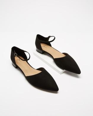 SPURR Cady Flats - Flats (Black Croc)
