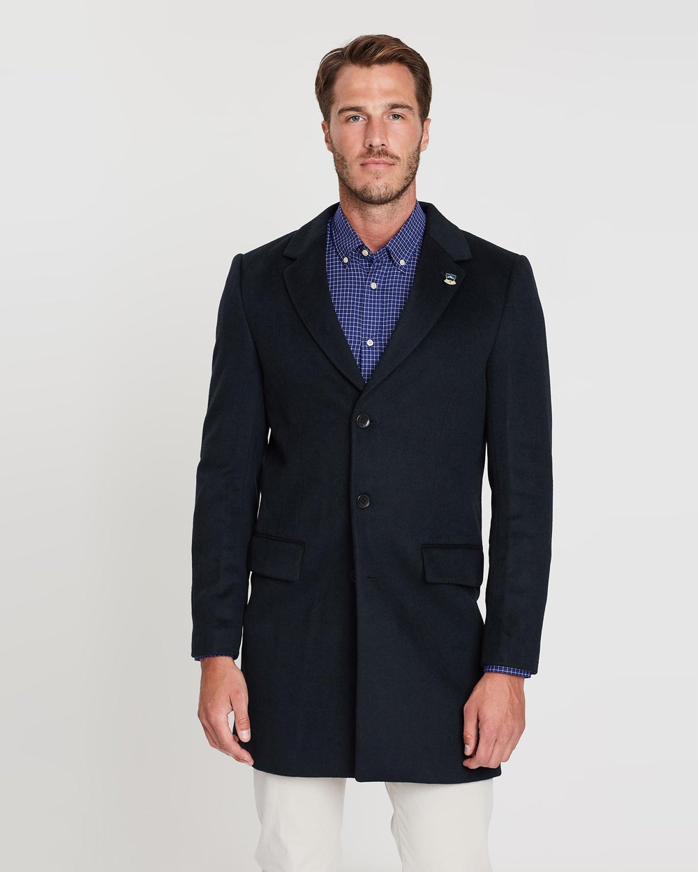 a98fe4ee3134 Classic 3-Button Wool-Blend Coat by Scotch   Soda Online